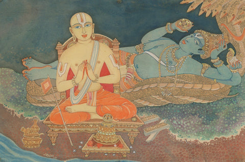 Indian Miniature Paintings - Ramanuja the Vaishnava saint