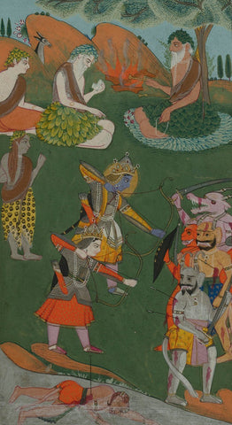 Indian Miniature Paintings - Ramayana Manuscript