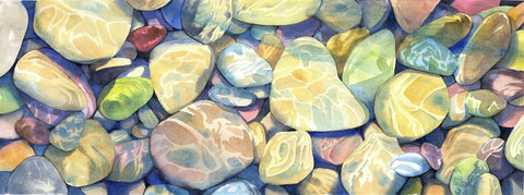 Rocks Under Water - Posters by Tallenge Store