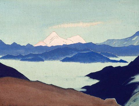 Sacred Himalayas, 1933-  Nicholas Roerich Painting –  Landscape Art by Nicholas Roerich