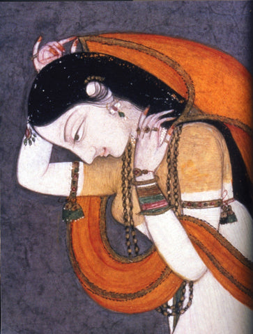Indian Miniature Paintings - Shakuntala - Wind Of Love