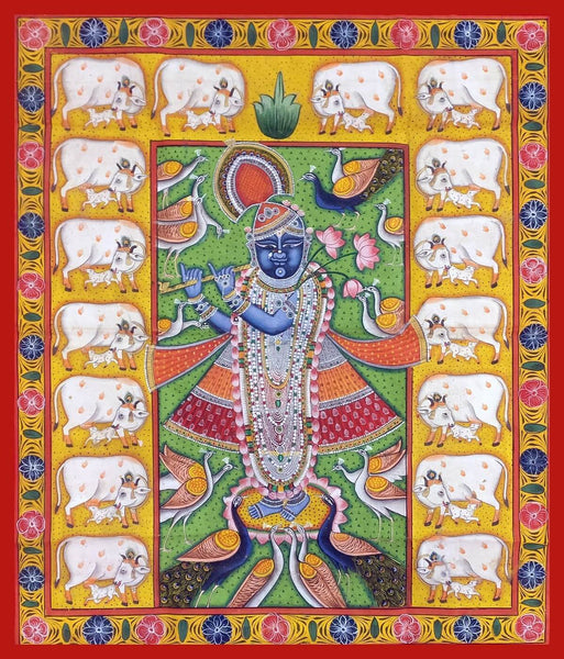 Shrinathji - Cows - Canvas Prints