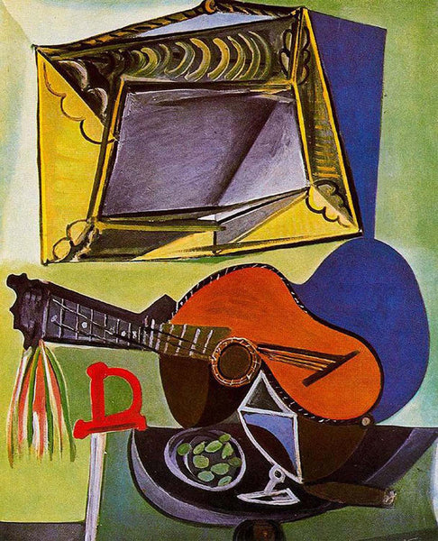 Still Life with Guitar - Canvas Prints