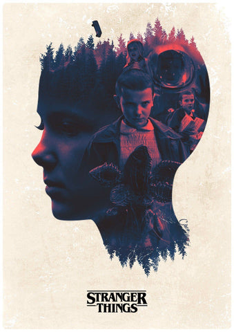 Stranger Things - Four - Framed Prints