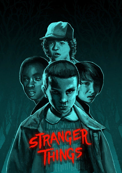 Stranger Things - Night II - Canvas Prints