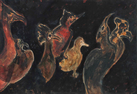 Rabindranath Tagore - Untitled - Birds
