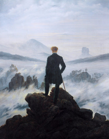 Wanderer above the Sea of Fog - Der Wanderer über dem Nebelmeer