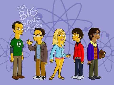 The Simpsons - The Big Bang Theory - TV Crossovers