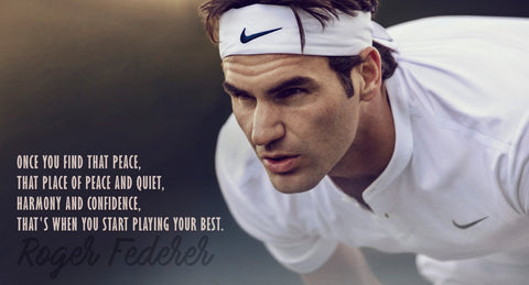 Spirit Of Sports - Find That Peace - Roger Federer - Legend Of Tennis by Christopher Noel