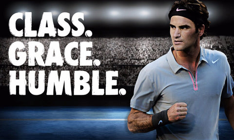 Spirit Of Sports - Class Grace Humble -  Roger Federer - Legend Of Tennis by Christopher Noel