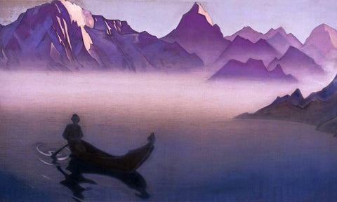 Messenger from Himalayas (Going Home) - Nicholas Roerich by Nicholas Roerich