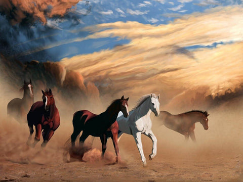 Running Horses - Digital Art