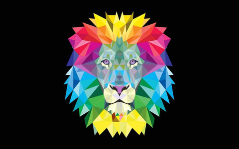 Digital Art - Colorful Lion Face