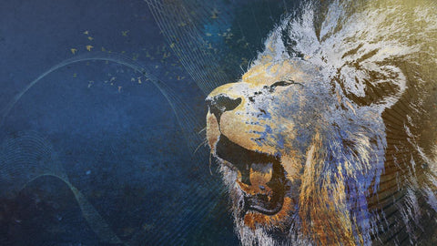 Digital Art - Roaring Lions