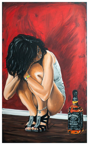 Artwork of Thinking About Jack Daniels by Deepak Tomar