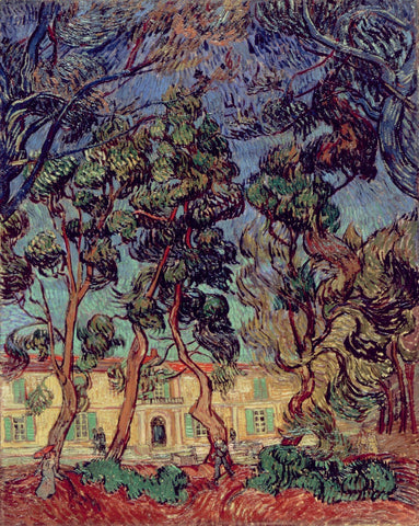 Van Gogh - Trees in the Garden of Saint Paul Hospital
