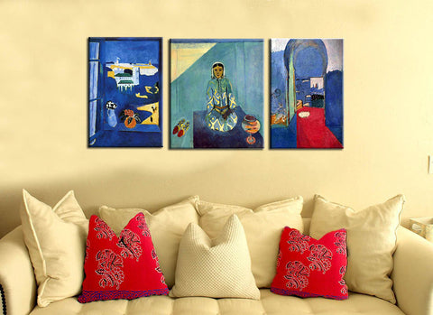 Matisse Morocco Triptych - Henri Matisse Art Panels (34 x 72 inches combined)