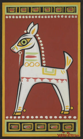 White Horse by Jamini Roy