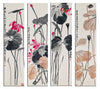 Qi Baishi - Lotus Of The Seasons - Set Of 4 - Art Panels