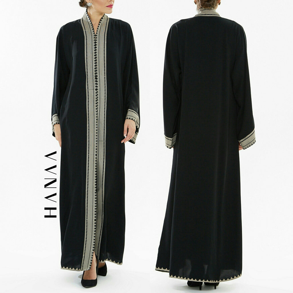 Nisah Embroidered Open Abaya