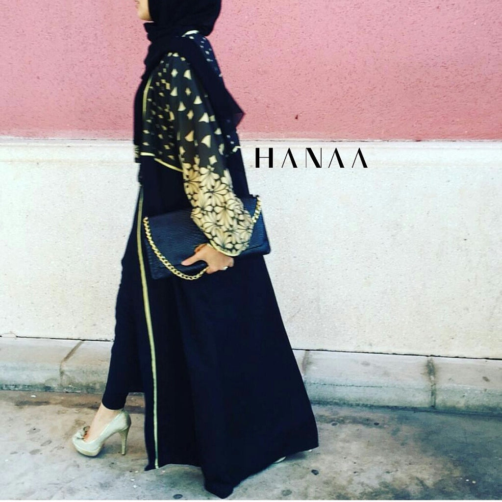 Gold Dust Open Abaya