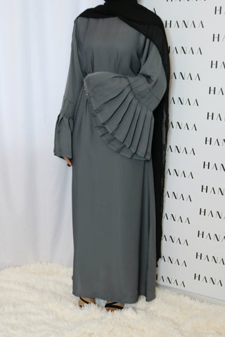 Laylah Velvet Closed Abaya - Purple