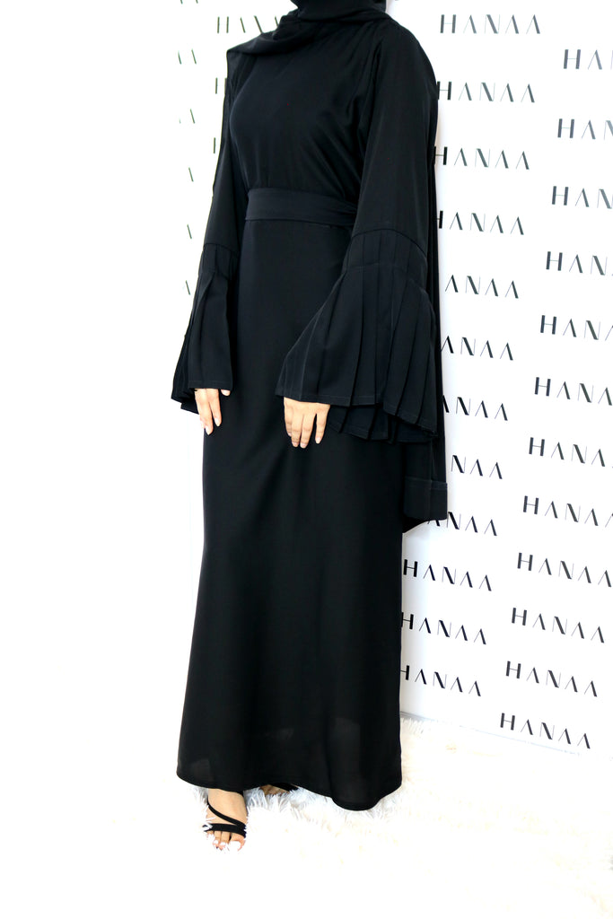 The Flare Sleeve Closed Abaya - Black
