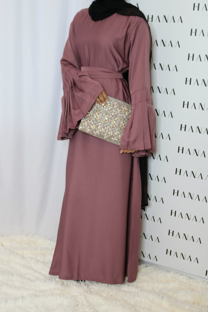 The Flare Sleeve Closed Abaya - Musk