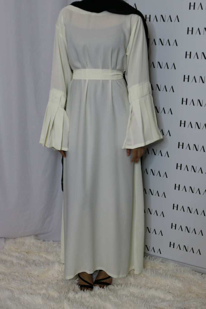 The Flare Sleeve Closed Abaya - Ivory
