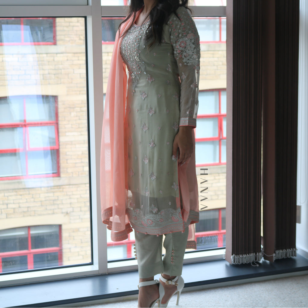 Maria B Inspired Chiffon 3pc Suit