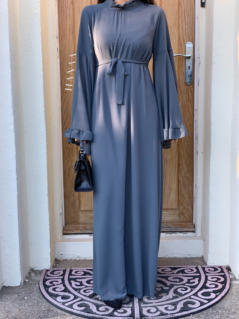 Aaliyah Maxi Dress - Charcoal - RTD