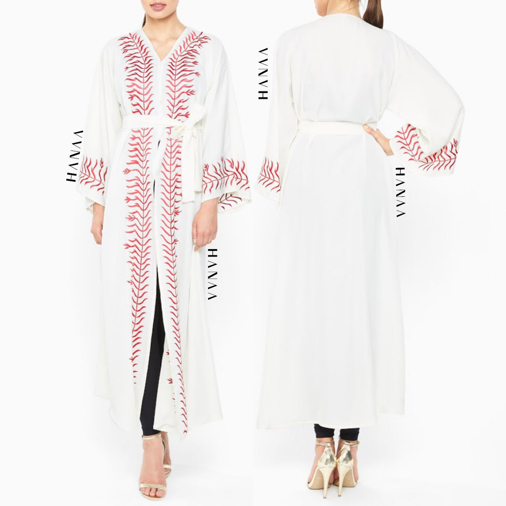 Sairish Embroidered Open Abaya