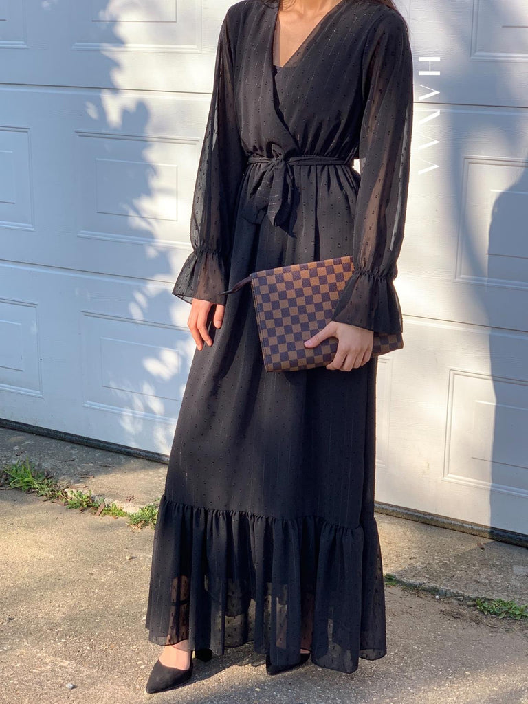 Safiyah Maxi Dress - Black - RTD