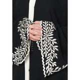 Amal Embroidered Open Abaya