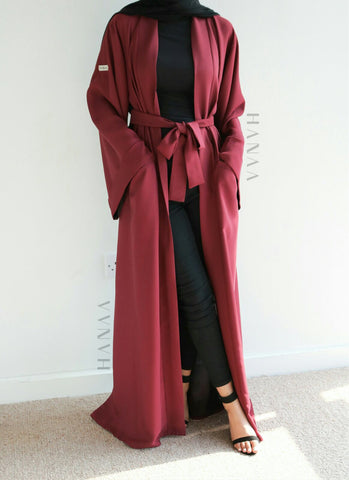 The Flare Sleeve Closed Abaya - Brown