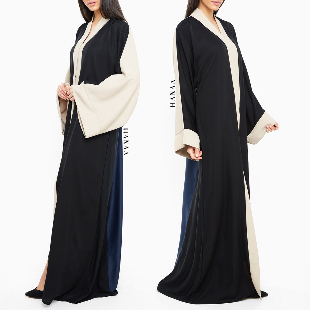 MAHA Embroidered Open Abaya