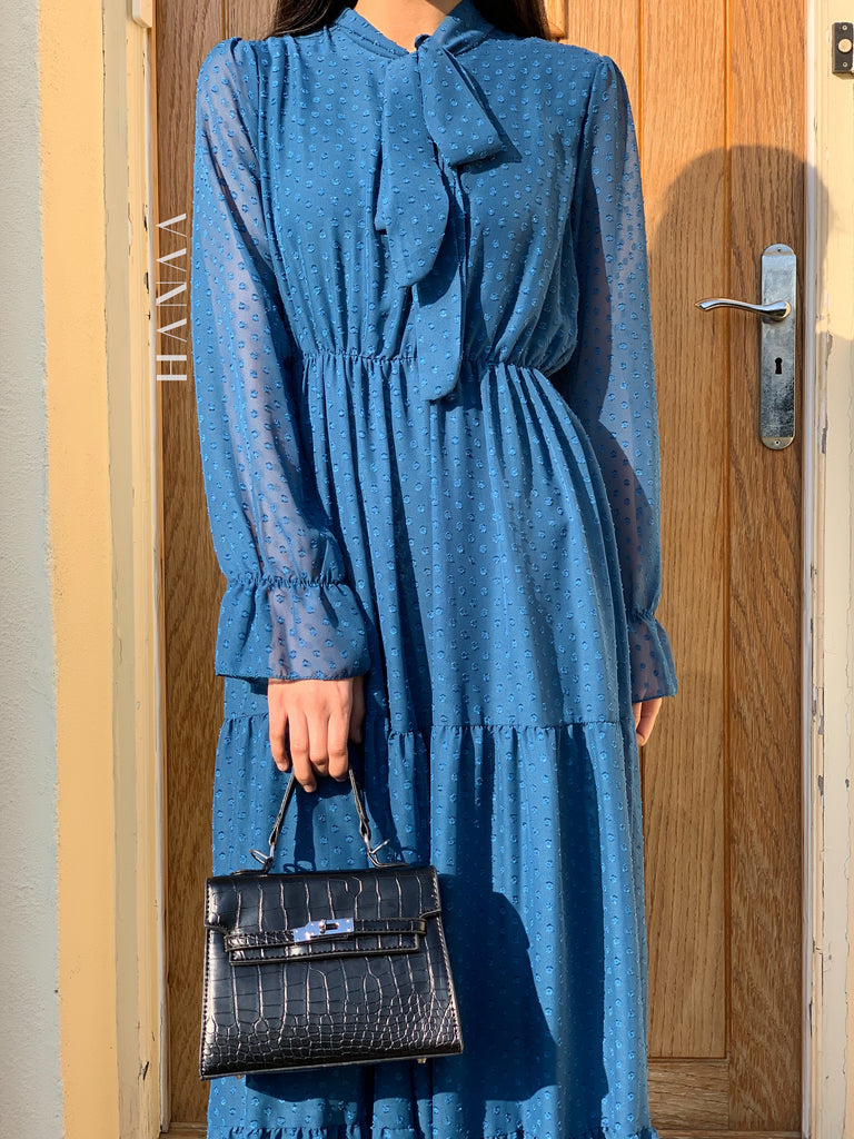 Tahirah Maxi Dress - Blue - RTD