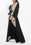 Maariyah Embroidered Open Abaya - RTD