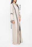 Shireen Embroidered Open Abaya