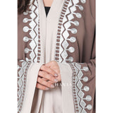 Madiya Embroidered Open Abaya