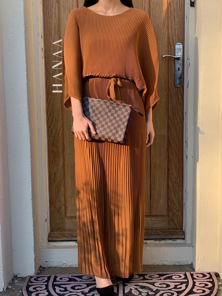Nawal Maxi Dress - Tan - RTD