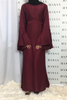 The Flare Sleeve Closed Abaya - Burgundy