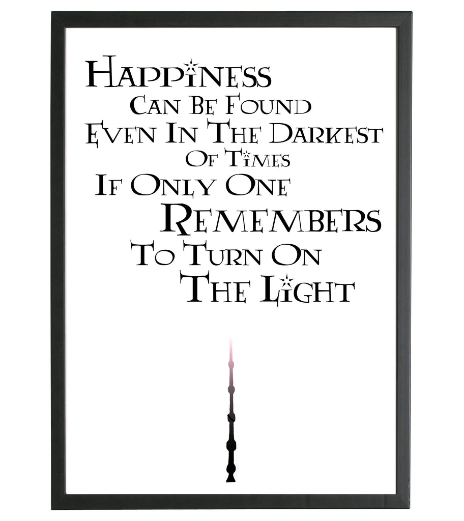 A4 Glossy Printed Harry Potter Inspired Quotes - With Frame – Enorh