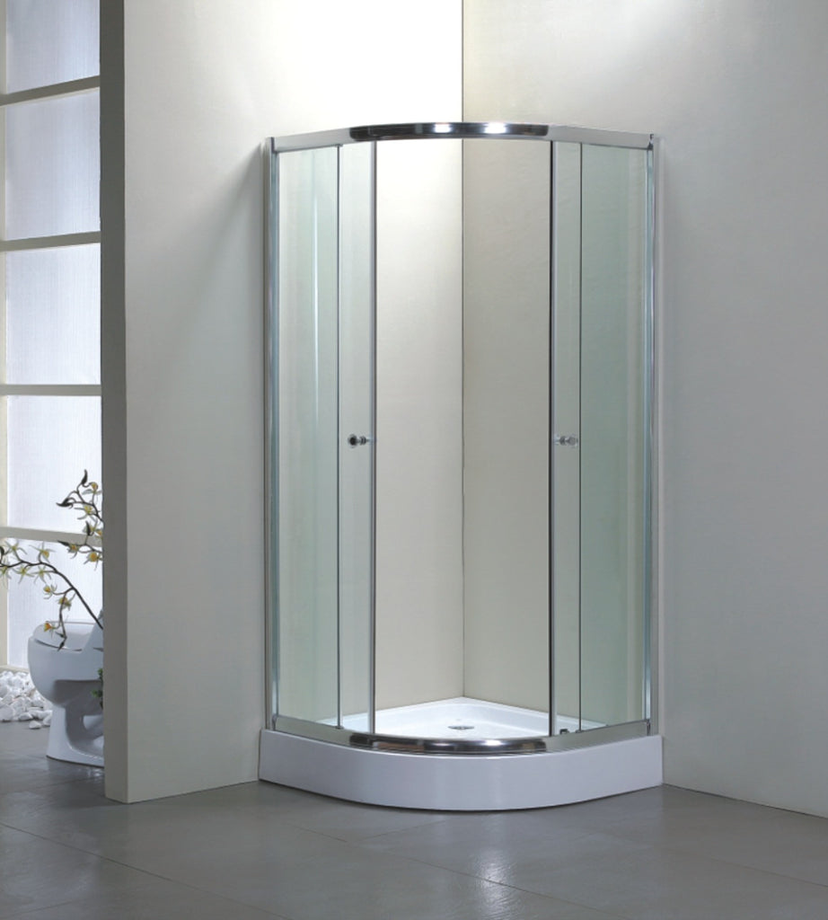 900mm x 900mm Quadrant Shower Enclosure With Fiberglass Tray and ...
