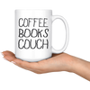 Coffee Books Couch Mug
