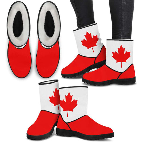 Canada Flag Faux Boots