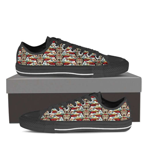Image of Cow Skull Women's Low Top Canvas Shoe
