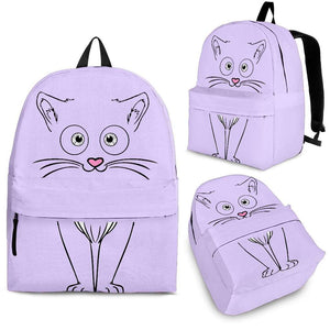Purple Cute Cat Backpack