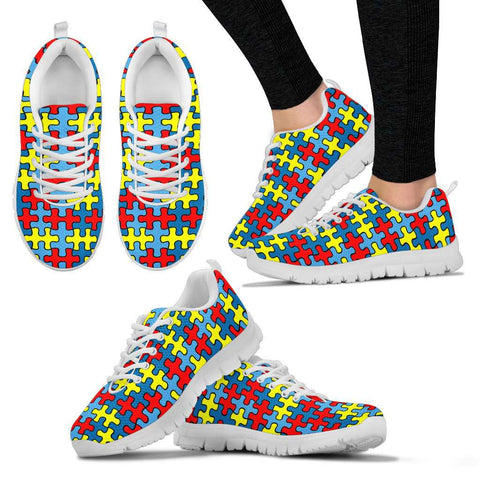Autism Pattern Women's Sneakers.
