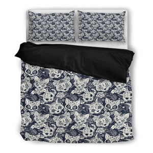 Cat Skull Bedding Set